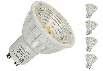 Regulable 5.5W GU10 Bombillas LED Equivalente de luz halógena 50W-60W Súper Brillante 550LM