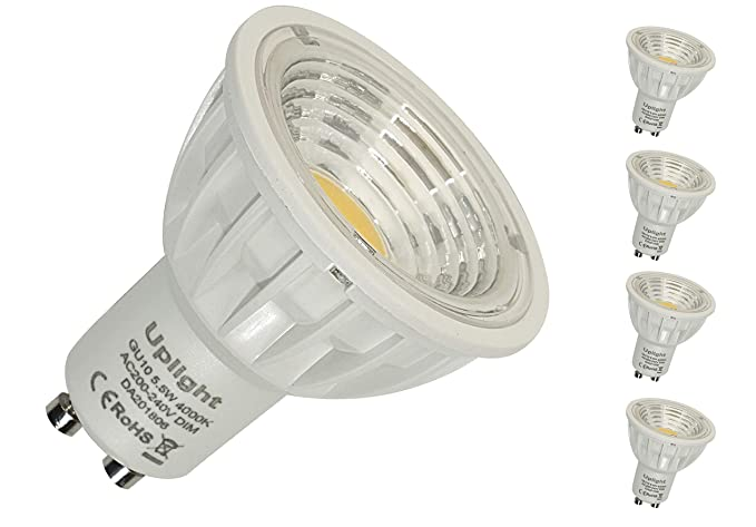 Regulable 5.5W GU10 Bombillas LED Equivalente de luz halógena 50W-60W Súper Brillante 550LM