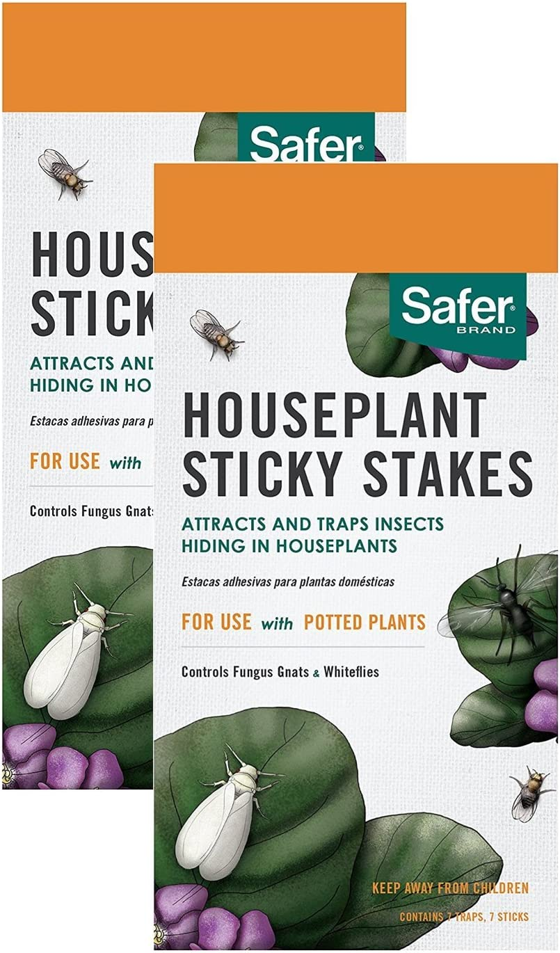 HOME-OUTDOOR Safer Brand 5025 Houseplant Sticky Stakes Insect Trap