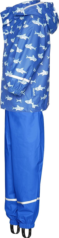 Reflektoren Playshoes Jungen Regenanzug Hai Abnehmbare Kapuze Regenmantel