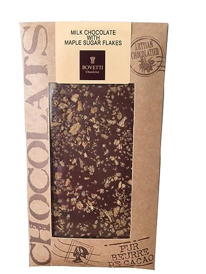 Bovetti - Tableta de chocolate con leche con virutas de arce - 100 g