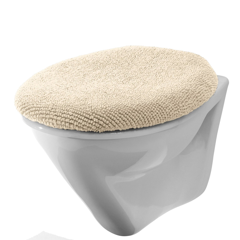 100/% Baumwolle Kochfest Erwin M/üller WC-Deckelbezug Taupe Gr/ö/ße 45x50 cm mit Schn/ürung