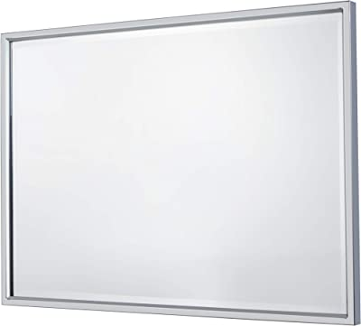 KAASUN Large Stainless Steel Edging Bathroom Mirror Wall Mirror Finely Slanted Tilting Bathroom Rectangle Hanging Mirror | 26-Inch x 36-Inch