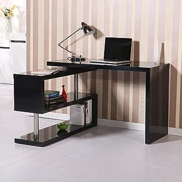 winkelschreibtisch schwarz. Black Bedroom Furniture Sets. Home Design Ideas