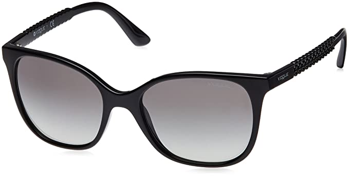 VOUGE Damen Sonnenbrille 0VO5032S W44/11, Schwarz (Black/Gradient), 54