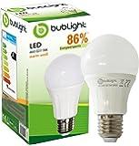 Bublight LED Lampe E27 9W, ersetzt 60W Glühbirne, Energieklasse A+, 3000 Kelvin warmweiß