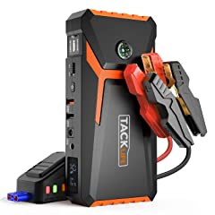 TACKLIFE T8 800A Peak 18000mAh Car Jump Starter (up to 7.0L Gas 5.5L Diesel engine) with LCD Screen USB Quick Charge 12V Auto Battery Booster Portable Power Pack with Built-in LED light