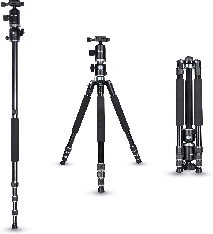 Trípode Rollei Macro de Aluminio con Columna Central pivotante con rótula de Bola. Compatible con cámaras DSLR y DSLM: Amazon.es: Electrónica