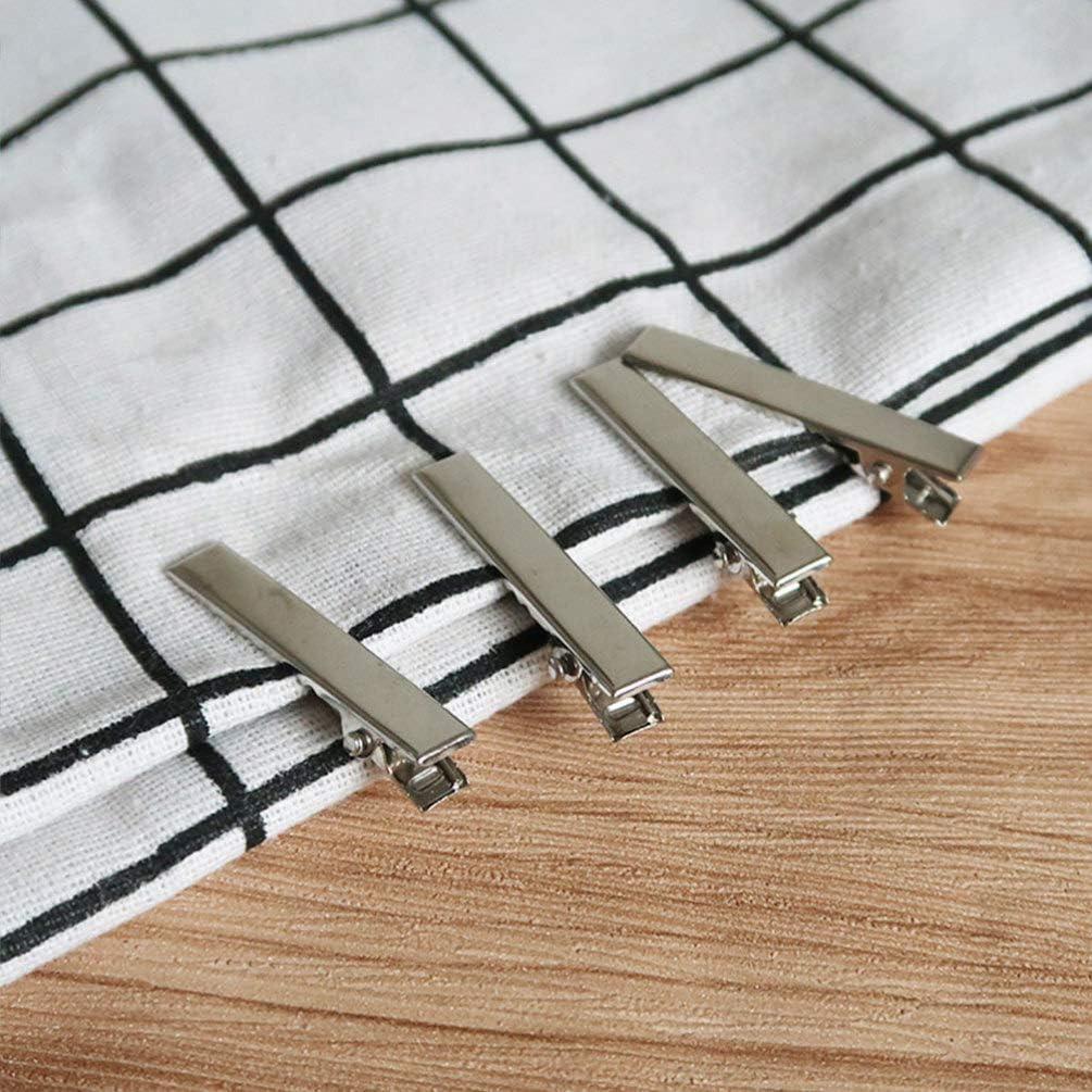 HEALLILY 100 st/ücke multifunktionale metall praktische langlebige entenschnabel clip krokodilklemme krokodilklemme zum klemmen diy frisur silber