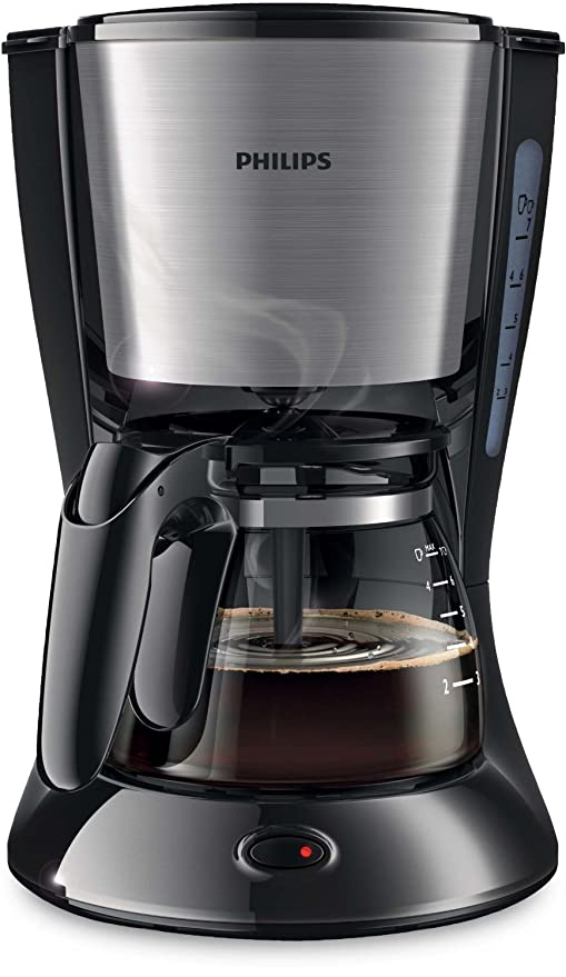 Philips HD7435 Cafetera Goteo, Color Metal, 700 W, 6 Cups ...