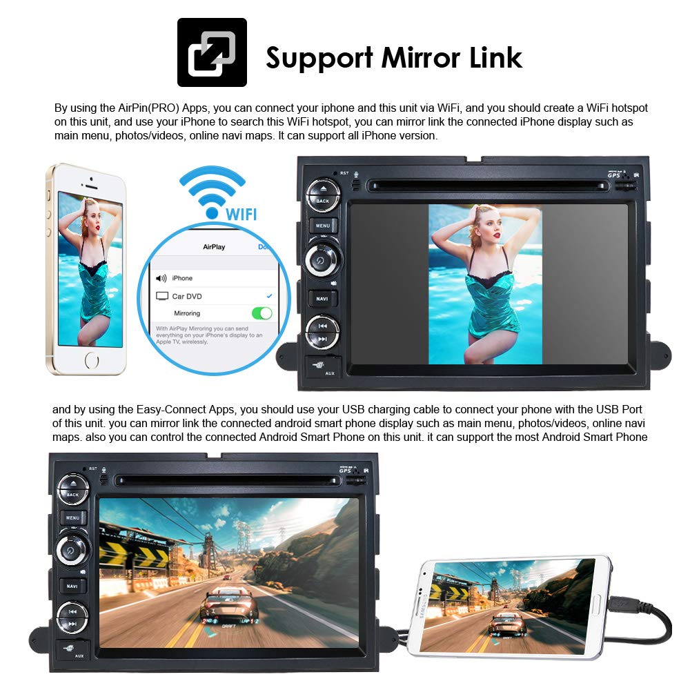 Digital Media Bluetooth FM//MP3 USB//SD Stereo Receiver For 2004-2007 Ford Escape