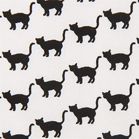 Robert Kaufman Tela Blanca con Gatos Negros Animales Sevenberry Mini Prints: Amazon.es: Hogar