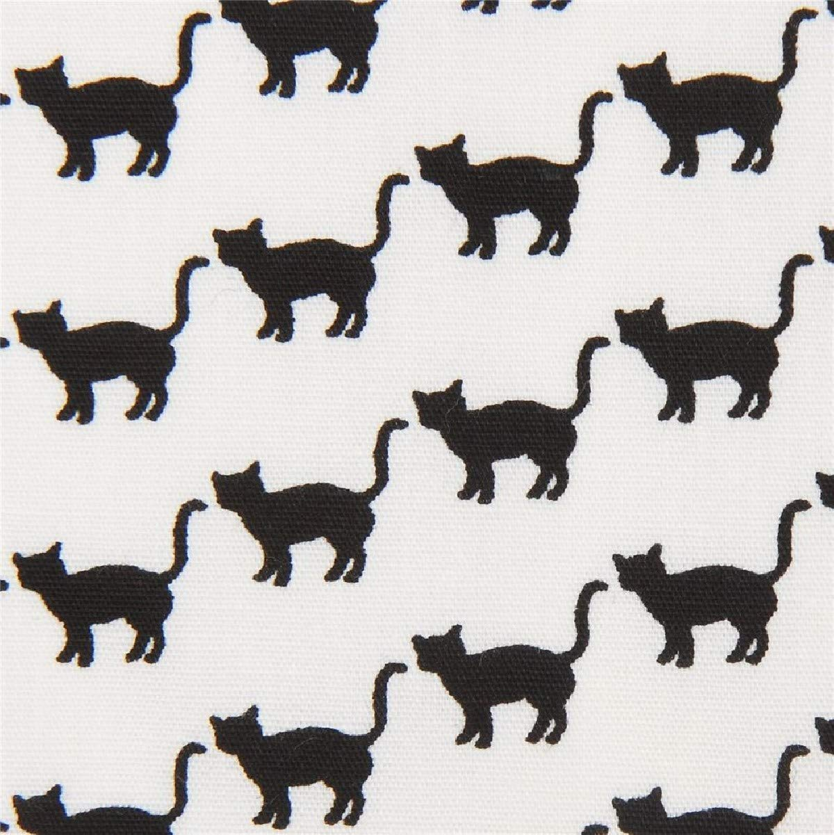 Robert Kaufman Tela Blanca con Gatos Negros Animales ...