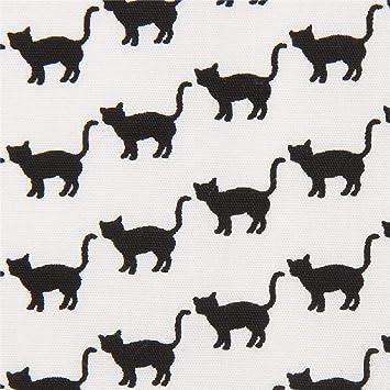 Robert Kaufman Tela Blanca con Gatos Negros Animales Sevenberry Mini Prints: Amazon.es: Hogar