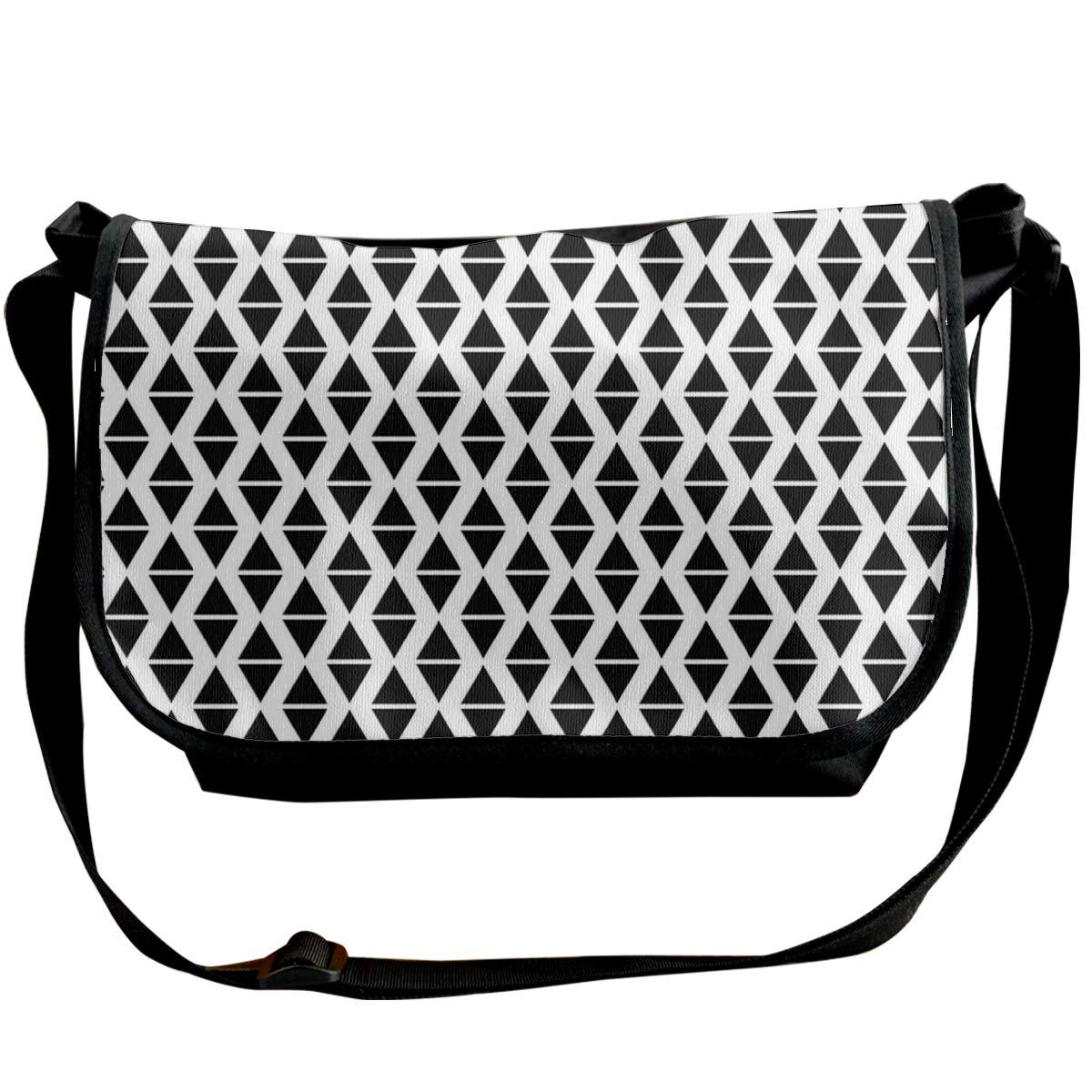 Taslilye Triangle Seamless Pattern Background Abstract Personalized Wide Crossbody Shoulder Bag For Men And Women For Daily Work Or Travel