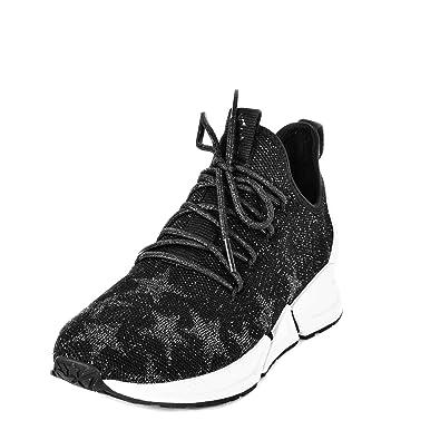 12e1aa75e01 Ash Thyra Star Trainers Black   Gold Knit  Amazon.co.uk  Shoes   Bags