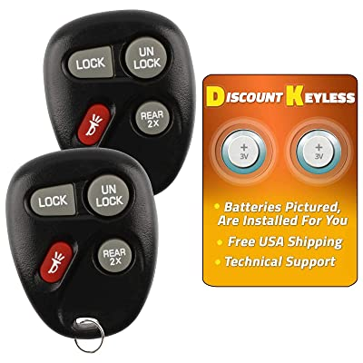 For 00-05 Chevy Astro 98-05 Blazer 98-05 GMC Jimmy 98-01 Oldsmobile Bravada 01-05 Safari Keyless Entry Remote Key Fob 15043458 15732805 KOBLEAR1XT KOBUT1BT - 2 PACK: Automotive