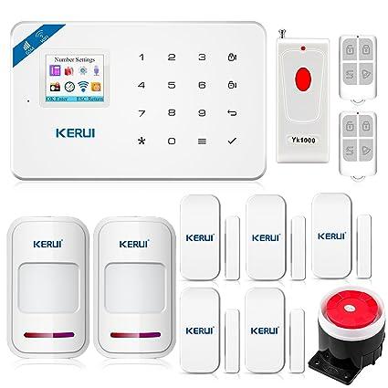 kr-w18 WiFi GSM SMS alarma casa inalámbrico APP + detectores de apertura + mandos