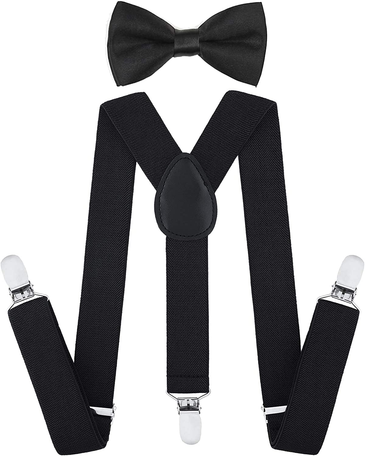 Children Kids Baby Boys Party Matching Braces Suspenders and Luxury Bow Tie Set
