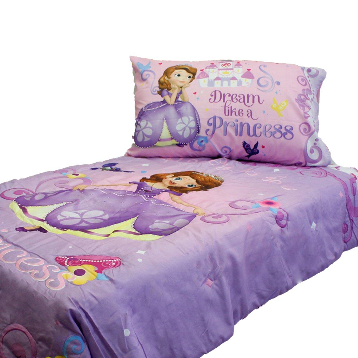 Disney princess toddler bedding 4 piece set - Amazon Com Sofia First Princess Scrolls 4 Piece Toddler Bedding Set Baby
