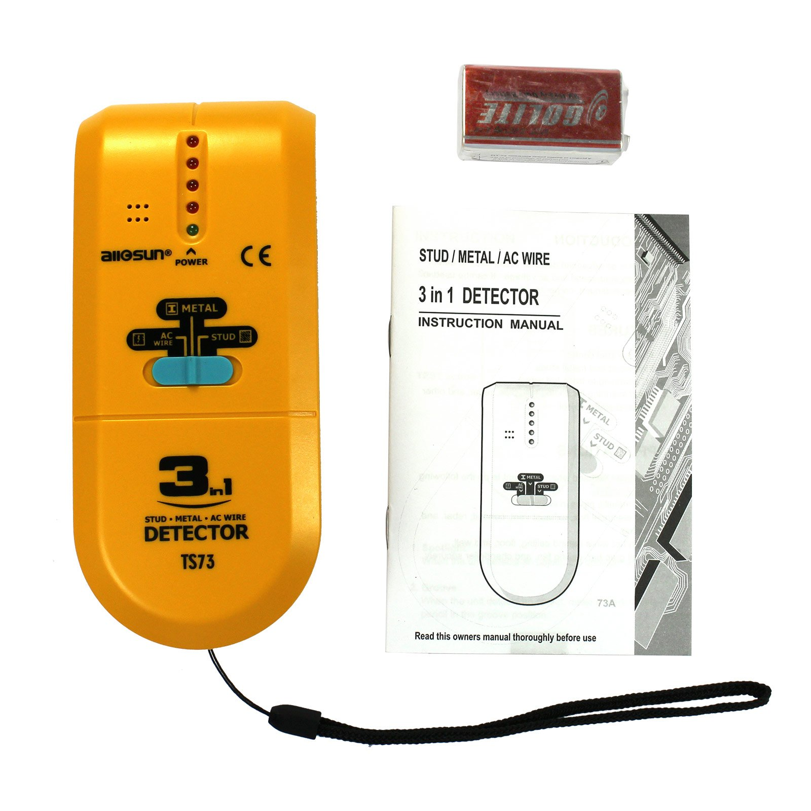 all-sun TS73 3 in 1 LED Wood Stud Finder by all-sun (Image #6)