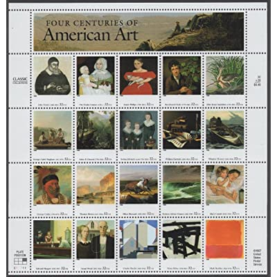 Four Centuries of American Art Sheet of 20 32 Cent Stamps Scott 3236: Toys & Games