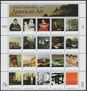 Four Centuries of American Art Sheet of 20 32 Cent Stamps Scott 3236