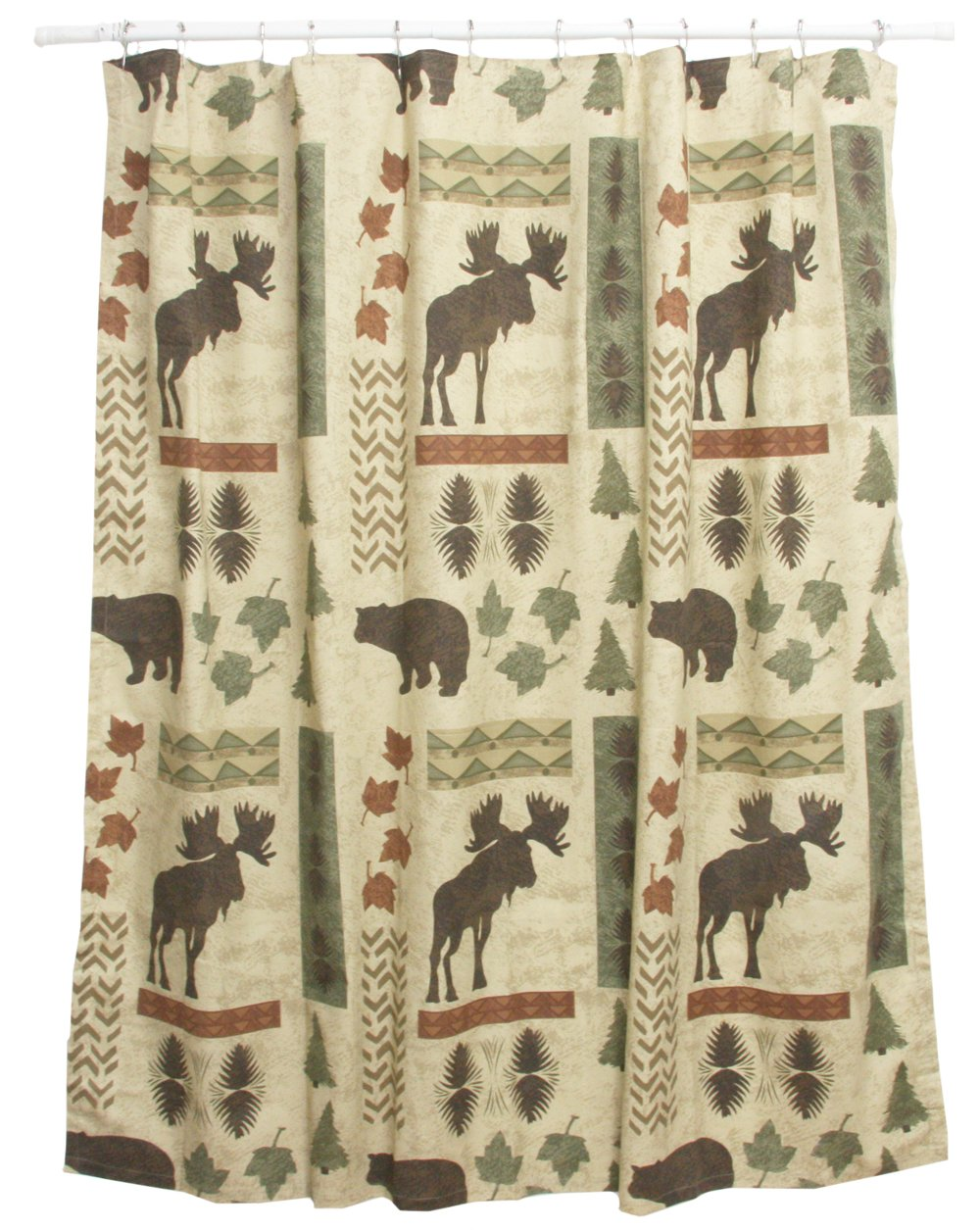 Bear & Moose Shower Curtain