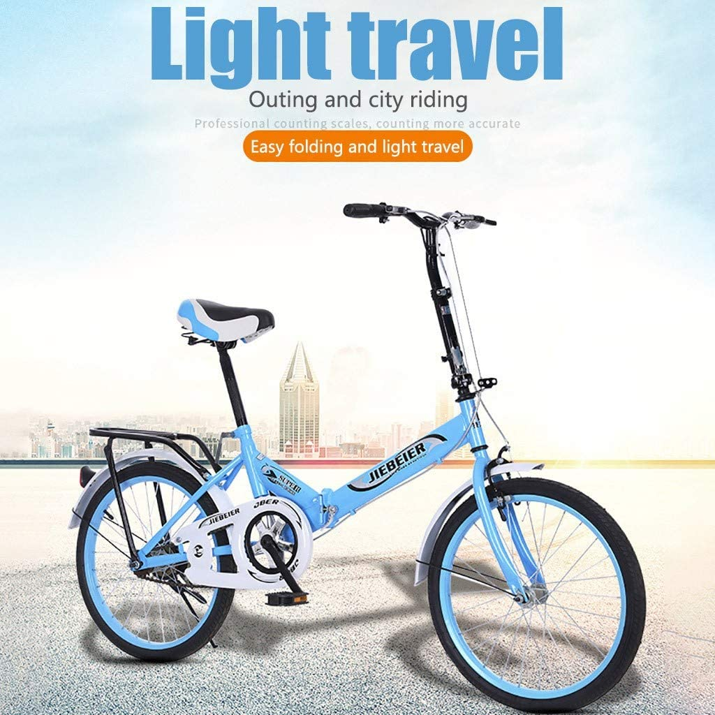 LAJIJI Kids Bike Lightweight Mini Folding Bike Boys Small Portable Bicycle Adult Student Womens Light Work Lightweight Mini Folding Bicycle