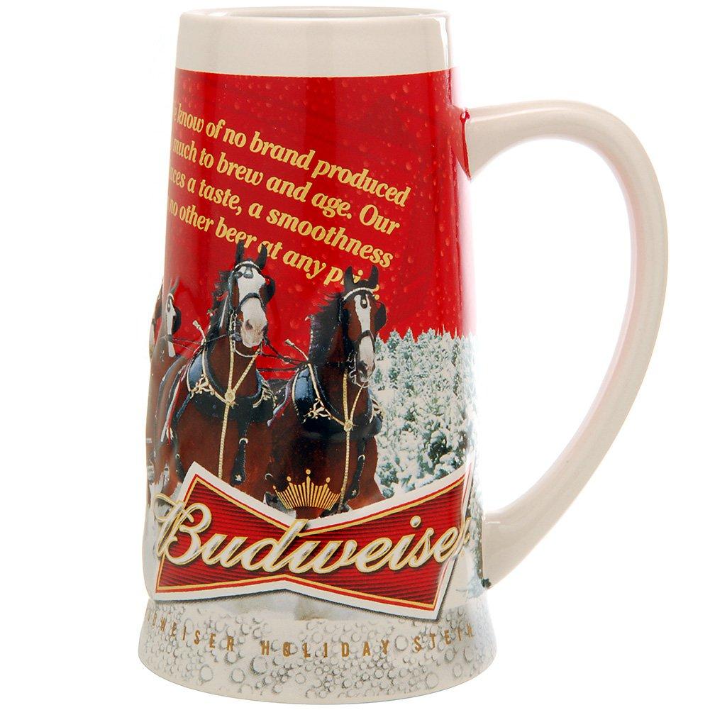 amazoncom 2013 budweiser holiday stein beer mugs beer mugs steins - Budweiser Christmas Steins