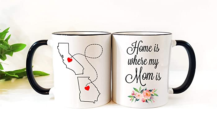 Amazoncom Personalized Long Distance Relationship Ceramic Coffee