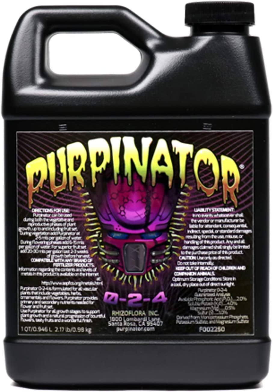 Rhizoflora Purpinator - Specialty Plant Nutrient Additive - Improves Color, Enhances Aromatics and Flavors, Gives More Potency to Your Plants (32oz)
