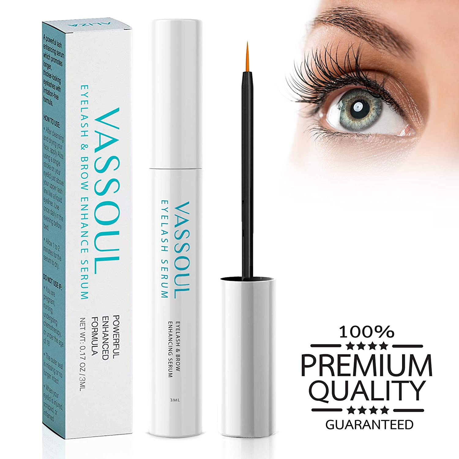 0111575f315 Amazon.com: VASSOUL Eyelash Growth Serum- Eyelash Enhancer Lash Eyebrow  Growth Serum for Longer and Thicker Eyelash, Fuller and Healthier Eyebrow,100%  ...