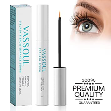 f25df4423a3 Amazon.com: VASSOUL Eyelash Growth Serum- Eyelash Enhancer Lash Eyebrow  Growth Serum for Longer and Thicker Eyelash, Fuller and Healthier  Eyebrow,100% ...