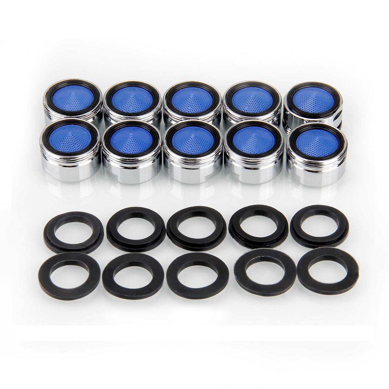 Migimi Strahlregler, 10 Stü ck Luftsprudler m24 Wasserhahn Sieb Einsatz, Mischdü se mit ABS-Filter - Premium Perlator mit Auß engewinde