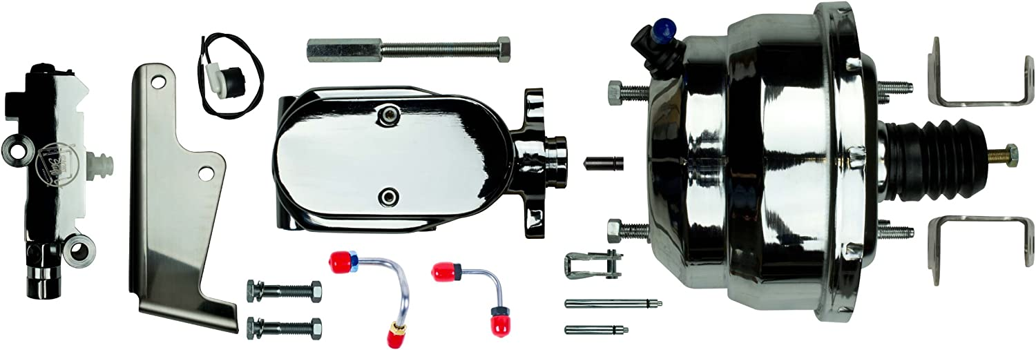 Valve and lines disc//Drum Universal The Right Stuff Detailing J81315171 Complete Chrome Upper Assembly Booster Master
