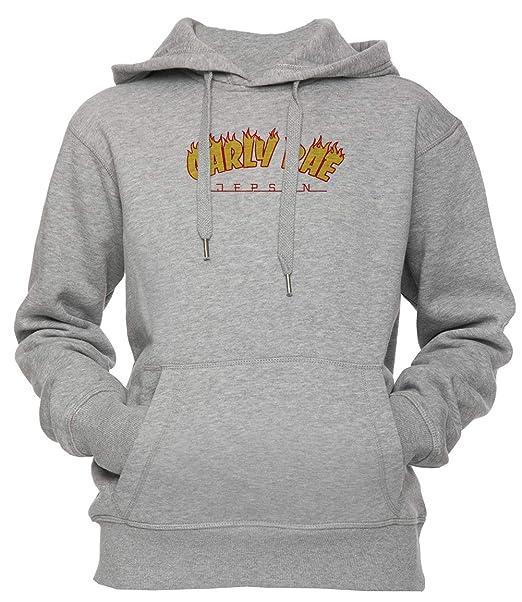 Carly RAE Thrasher Unisexo Hombre Mujer Sudadera con Capucha Pullover Gris Todos Los Tamaños Mens Womens Hoodie Sweatshirt Grey: Amazon.es: Ropa y ...