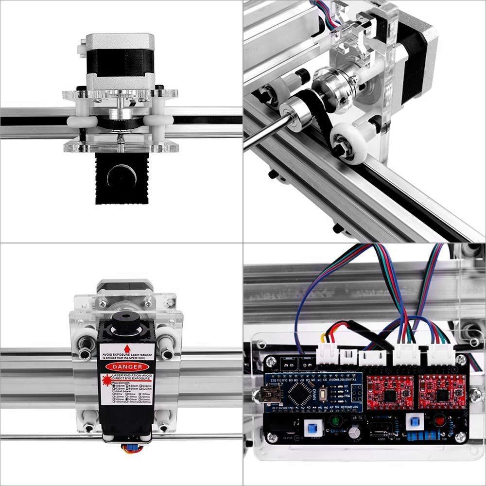 impresora de marcado de logotipo TOPQSC 7000MW Kit de m/áquina de grabado l/áser CNC impresora de escritorio de 50x40 cm m/áquina de corte de grabado de talla de madera USB de 12 V