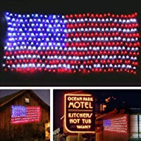 Deals on MZD8391 Waterproof American US Flag LED String Light