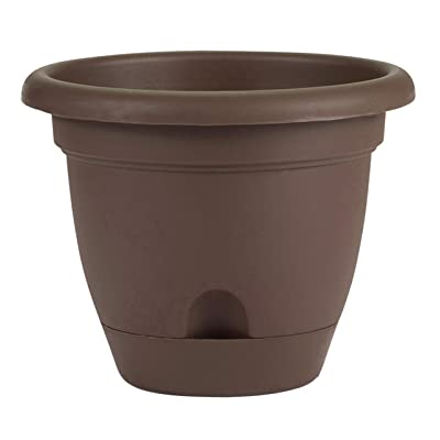 "Bloem Lucca Self Watering Planter, 16"", Chocolate (LP1645) : Garden & Outdoor"