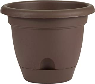 "product image for Bloem 10041 LP1045 Lucca Self Watering Planter, 10"" Chocolate"