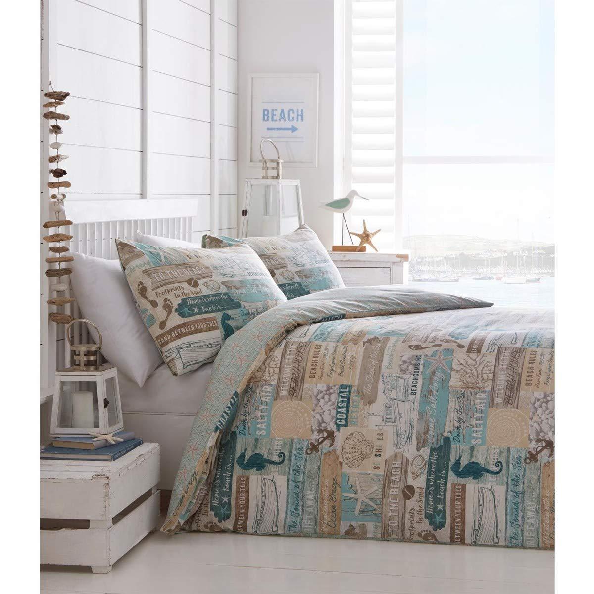 Portfolio Driftwood kołdra poszewka na kołdrę dwustronny zestaw łóżka, Multi, podwójne
