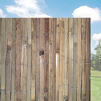 FB FunkyBuy® Panneau de clôture à Lattes Naturel pelé en Roseau de ...