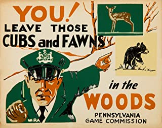 product image for WPA - Pennsylvania Game Commission Vintage Poster (artist: WPA) c. 1935 (12x18 Art Print, Wall Decor Travel Poster)