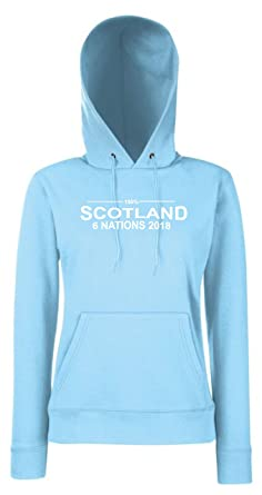 Blood Sweat And Tears Scotland Six Nations 2018 Ladies Rugby Hoodie