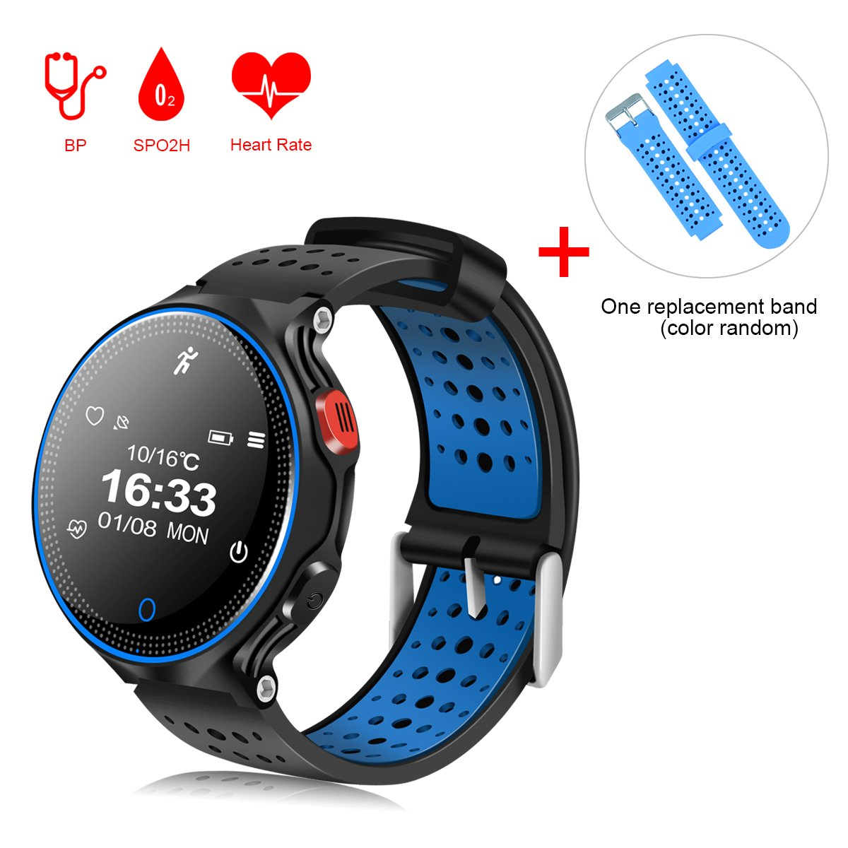 Amazon.com: Padgene Sports Bracelet, Bluetooth 4.0 Fitness Activity Tracker IP68 Waterproof Smart Watch Sport Tracker Health Wireless Monitor Wristband with ...