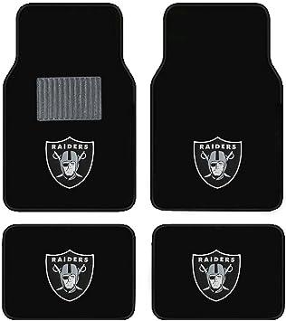 Oakland Raiders Embroidered Logo Carpet Floor Mats Wow Logo on All 4 Mats.