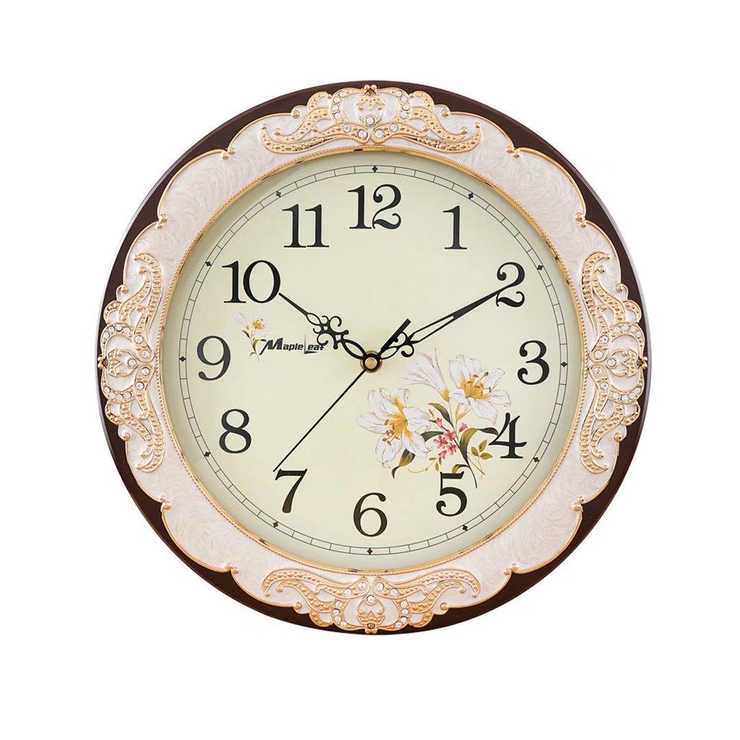 時計 静音 掛け時計 掛時計 壁掛け 壁掛け時計 おしゃれ ヨーロッパ 新築祝い 可愛い かわいい 内祝い 出産祝い おすすめ 最適なインテリア マルーン EBODONG B076KBP5RW マルーン マルーン