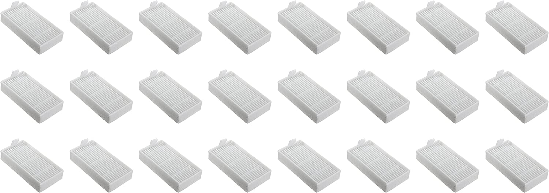 Nispira HEPA Filter Replacement Compatible with Ilife Model V3s V3s pro, V5, and V5s V5s Pro Robotic Vacuum Cleaner, 24 Packs