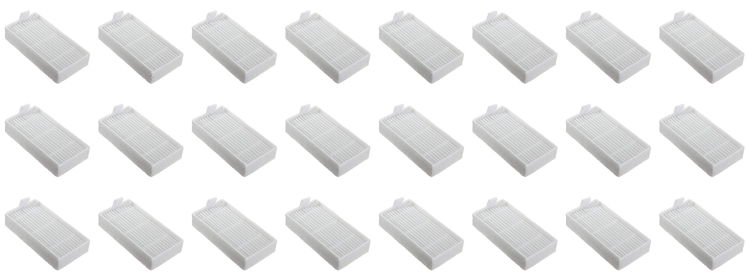 Nispira HEPA Filter Compatible Ilife Model V3s V3s pro, V5, and V5s V5s Pro Robotic Vacuum Cleaner, 24 Packs